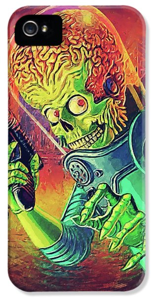The Martian - Mars Attacks IPhone 5 Case by Taylan Apukovska