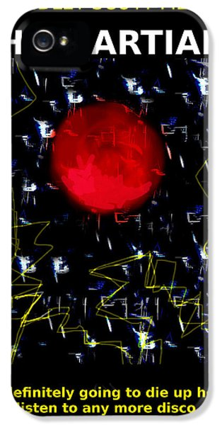 The Martian Movie Poster  IPhone 5 Case by Enki Art