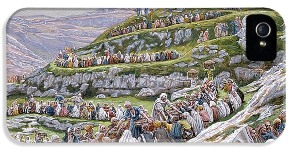 The Miracle Of The Loaves And Fishes IPhone 5 Case by Tissot