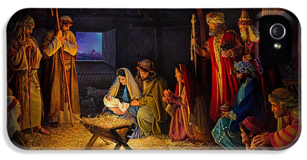 The Nativity IPhone 5 Case by Greg Olsen