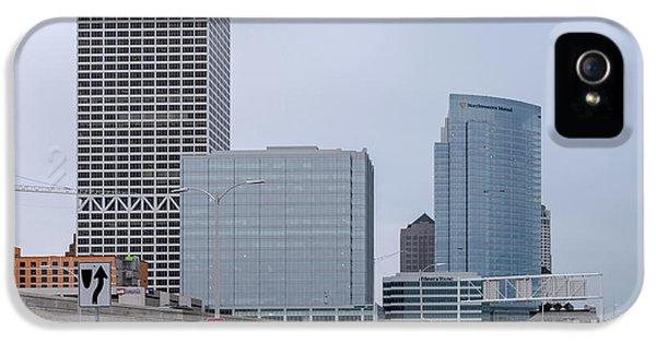 IPhone 5 Case featuring the photograph The New Milwaukee Skyline by Randy Scherkenbach