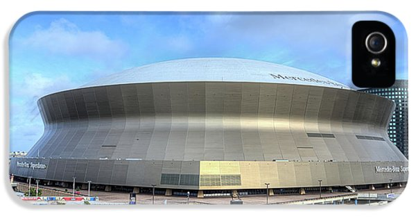 IPhone 5 Case featuring the photograph The New Orleans Superdome by JC Findley