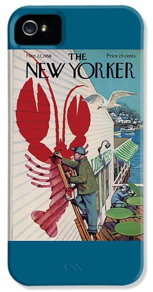 Food And Beverage iPhone 5 Case - The New Yorker Cover - March 22nd, 1958 by Arthur Getz