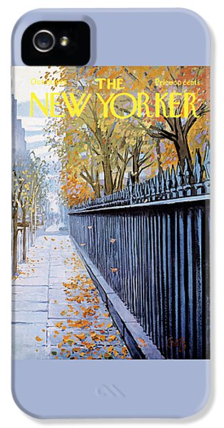 Times Square iPhone 5 Case - Autumn In New York by Arthur Getz