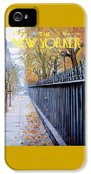 Autumn In New York IPhone 5 Case