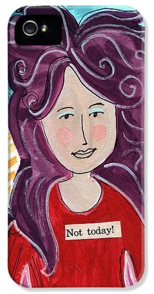 Fairy iPhone 5 Case - The Not Today Fairy- Art By Linda Woods by Linda Woods