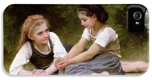 The Nut Gatherers IPhone 5 Case by William-Adolphe Bouguereau