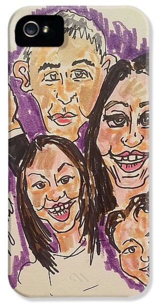 The Obama Family Farwell Tour  IPhone 5 Case by Geraldine Myszenski