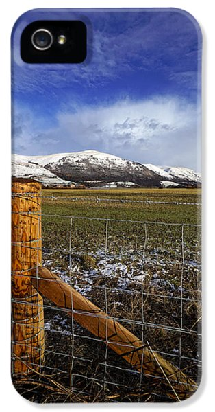 IPhone 5 Case featuring the photograph The Ochils In Winter by Jeremy Lavender Photography