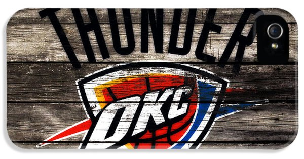 The Oklahoma City Thunder W10           IPhone 5 Case by Brian Reaves