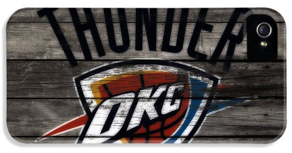 The Oklahoma City Thunder W8           IPhone 5 Case by Brian Reaves