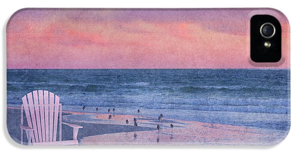 Sandpiper iPhone 5 Case - The Old Beach Chair by Betsy Knapp