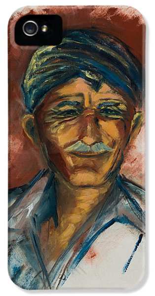 The Old Greek Man IPhone 5 Case by Elise Palmigiani