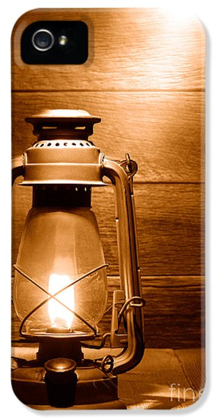The Old Lamp - Sepia IPhone 5 Case by Olivier Le Queinec
