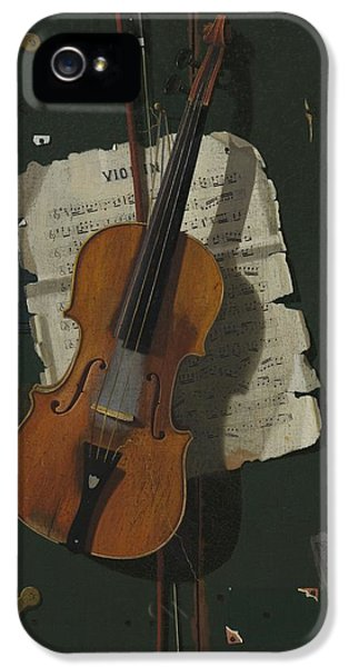 Violin iPhone 5 Case - The Old Violin by John Frederick Peto