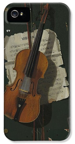 The Old Violin IPhone 5 Case by John Frederick Peto