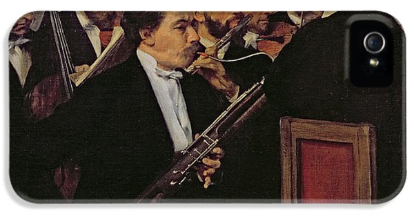 The Opera Orchestra IPhone 5 Case by Edgar Degas