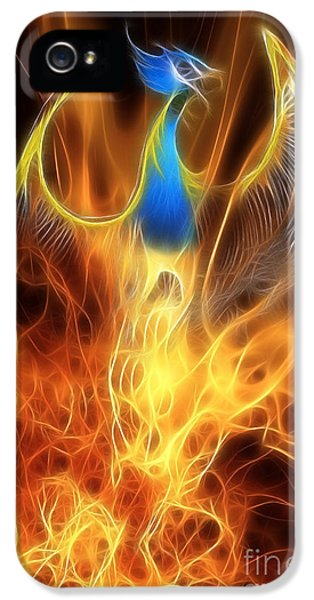 The Phoenix Rises From The Ashes IPhone 5 Case by John Edwards