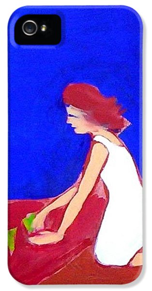 IPhone 5 Case featuring the painting The Planting by Winsome Gunning