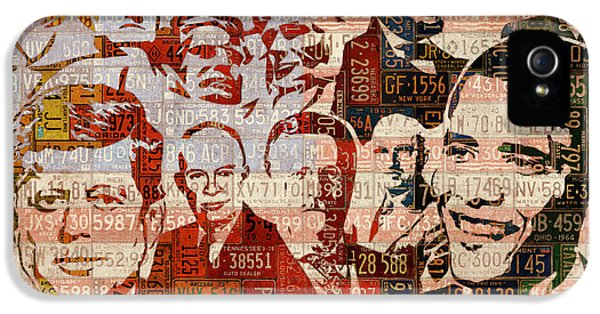 The Presidents Past Recycled Vintage License Plate Art Collage IPhone 5 Case by Design Turnpike