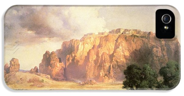Riding iPhone 5 Cases - The Pueblo of Acoma in New Mexico iPhone 5 Case by Thomas Moran