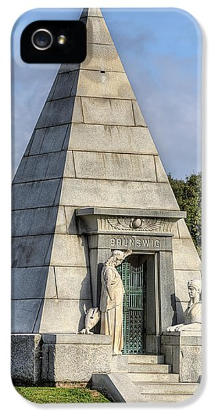 IPhone 5 Case featuring the photograph The Pyramid In Metairie Cemetery by JC Findley