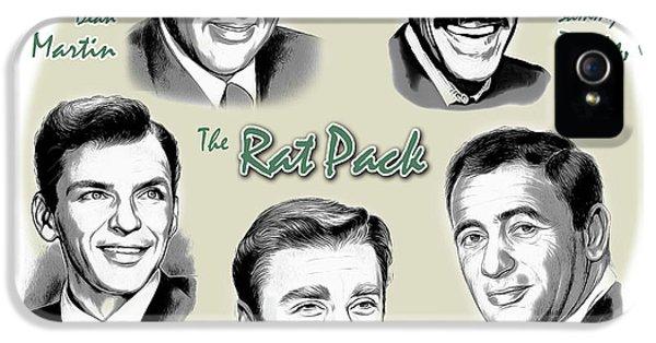 Frank Sinatra iPhone 5 Case - The Rat Pack by Greg Joens