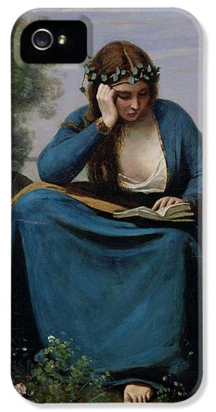 The Reader Crowned With Flowers IPhone 5 / 5s Case by Jean Baptiste Camille Corot