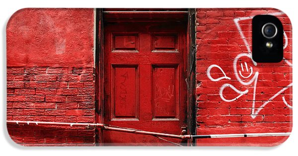 The Red Door Bar IPhone 5 Case by Kreddible Trout