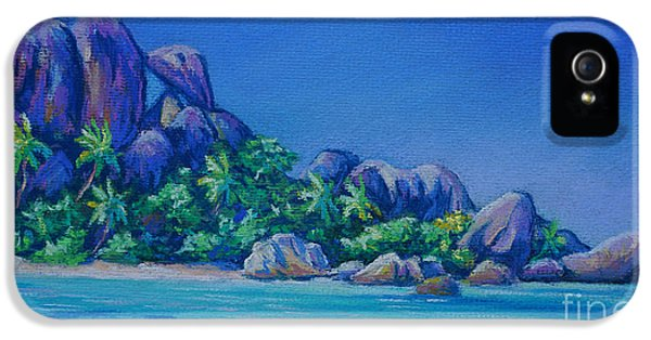 The Rocks On La Digue  Panoramic IPhone 5 Case