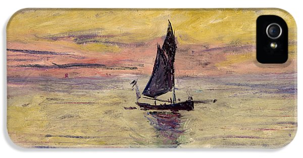The Sailing Boat Evening Effect IPhone 5 Case by Claude Monet