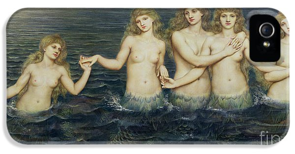 The Sea Maidens IPhone 5 Case by Evelyn De Morgan