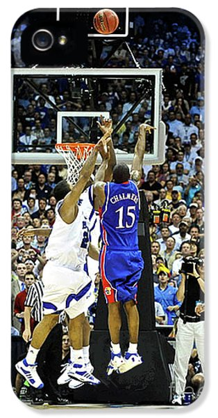 Larry Bird iPhone 5 Case - The Shot, 3.1 Seconds, Mario Chalmers Magic, Kansas Basketball 2008 Ncaa Championship by Thomas Pollart