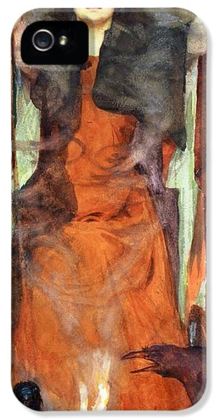 The Sorceress IPhone 5 Case by Henry Meynell Rheam