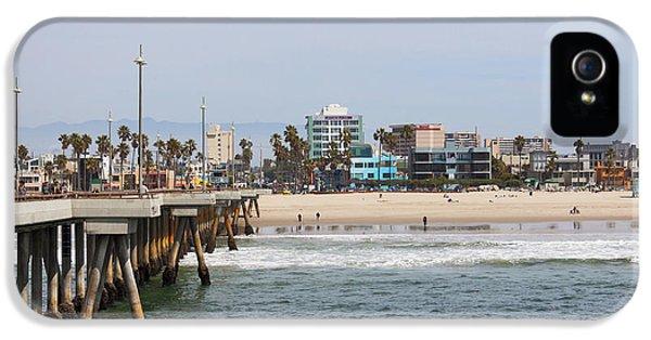 The South View Venice Beach Pier IPhone 5 Case by Ana V Ramirez