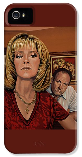The Sopranos Painting IPhone 5 / 5s Case by Paul Meijering