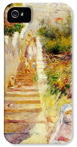 The Steps In Algiers IPhone 5 Case by Pierre Auguste Renoir