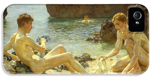 The Sun Bathers IPhone 5 Case by Henry Scott Tuke