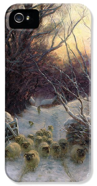 The Sun Had Closed The Winter Day IPhone 5 Case by Joseph Farquharson