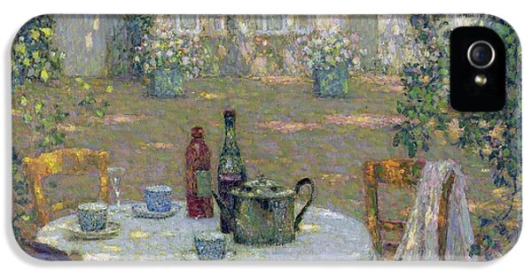 Garden iPhone 5 Cases - The Table in the Sun in the Garden iPhone 5 Case by Henri Le Sidaner