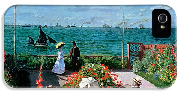 The Terrace At Sainte Adresse IPhone 5 Case by Claude Monet