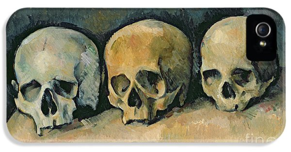 Still Life iPhone 5 Case - The Three Skulls by Paul Cezanne