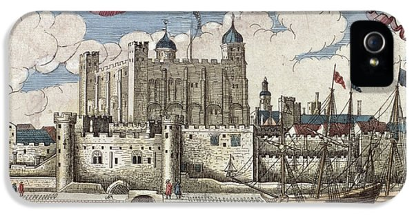 The Tower Of London Seen From The River Thames IPhone 5 Case by English School