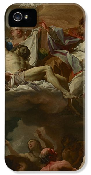 The Trinity With Souls In Purgatory IPhone 5 Case by Corrado Giaquinto