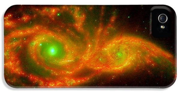 The Two Galaxies Ngc 2207 And Ic 2163 In The Canis Major Constellation IPhone 5 Case