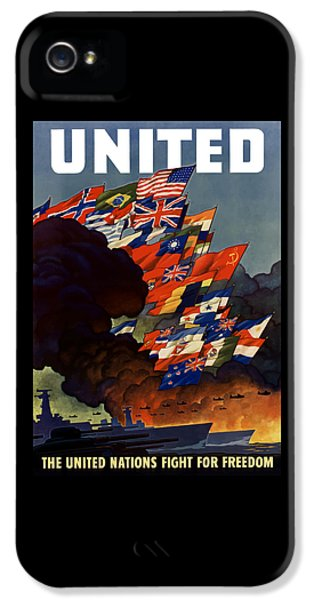 The United Nations Fight For Freedom IPhone 5 Case by War Is Hell Store