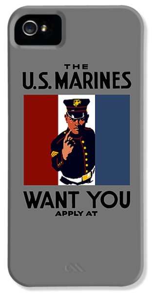 The U.s. Marines Want You  IPhone 5 Case by War Is Hell Store