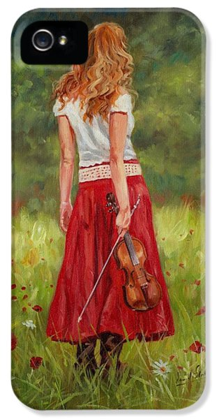 Violin iPhone 5 Case - The Violinist by David Stribbling