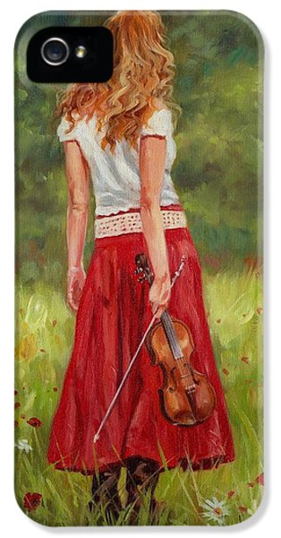 The Violinist IPhone 5 Case by David Stribbling