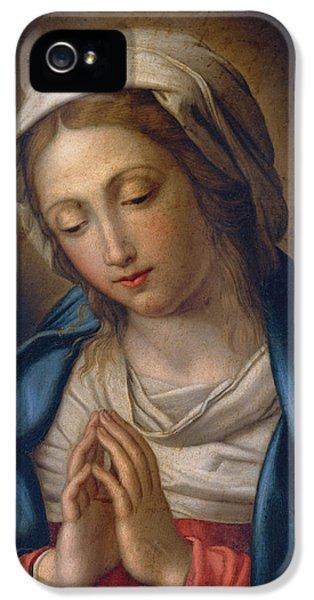 The Virgin At Prayer IPhone 5 Case by Il Sassoferrato